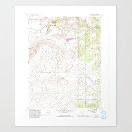 CA Carbondale 288946 1968 24000 geo Art Print