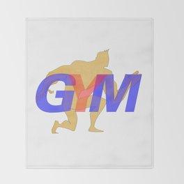 GYM Man 5 Throw Blanket