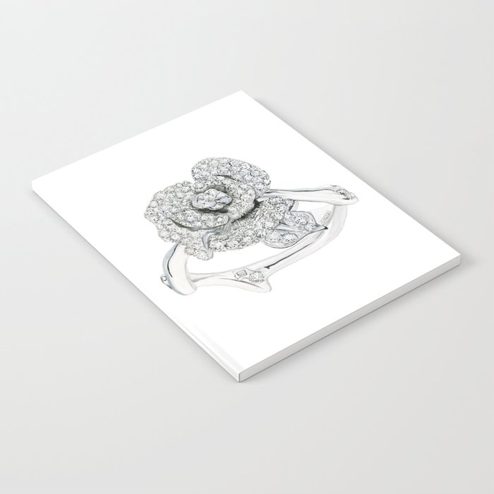 Silver Rose Ring Notebook