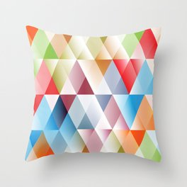 Triangles #1 Throw Pillow