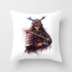 Dead Samurai Throw Pillow