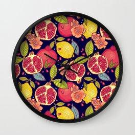 Mysterious tropical garden. Wall Clock