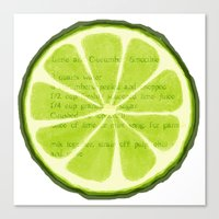 lime Canvas Prints featuring Lime by Linde Townsend