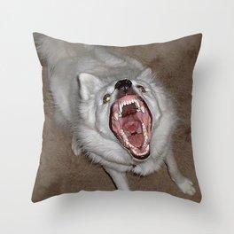 Cala says RAWR! Throw Pillow