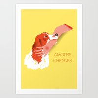 AMOURS CHIENNES Art Print