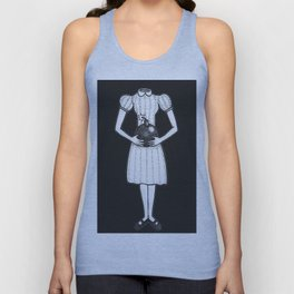 Here, I Made This For You (Black Background) Unisex Tank Top