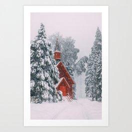 Little Church in Yosemite Art Print