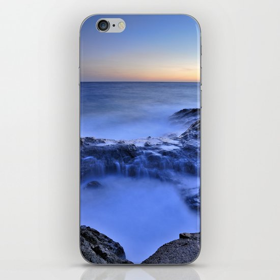 Blue seaside iPhone Skin