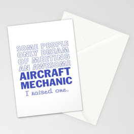 AIRCRAFT MECHANIC'S DAD Stationery Cards