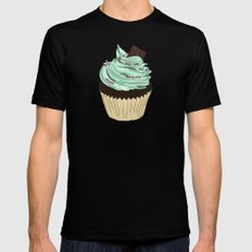 Spongy Cupcake Mens Fitted Tee Black MEDIUM