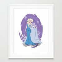 elsa Framed Art Prints featuring Elsa by LarissaKathryn