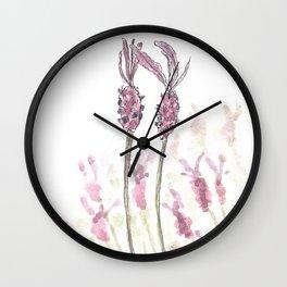 Lavandula stoechas Wall Clock