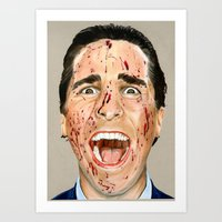 american psycho Art Prints featuring American Psycho by JackyAttacky