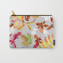 Seamless pattern of leaves of mountain ash and dogrose Carry-All Pouch