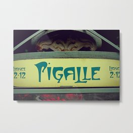 Art Nouveau and Iconic Pigalle - Old Paris style Metal Print