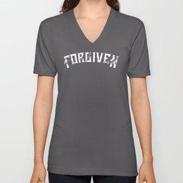 Forgiven by Jesus Christ Christian Catholic Faith Unisex shirt Unisex V-Neck