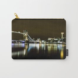 Night photo of Tower Bridge London with light reflections Carry-All Pouch