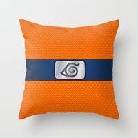 lannister Throw Pillows featuring NARUTO BANDANA HEADBAND by BeautyArtGalery
