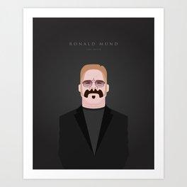 Portrait of Ronald Mund - Limo Driver Art Print