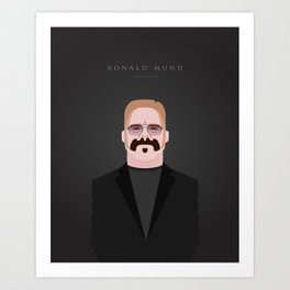 Portrait of Ronald Mund - Limo Driver Art Print