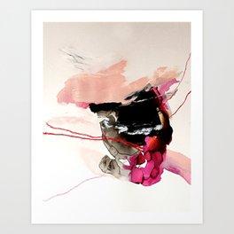 Day 32: Present conversations materialize then pass (like a fleeting Instagram post). Art Print