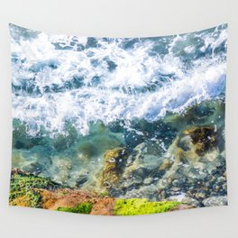 Clear Water Cliffside Wall Tapestry
