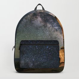 Broken Arch With The Rising Milky Way Backpack