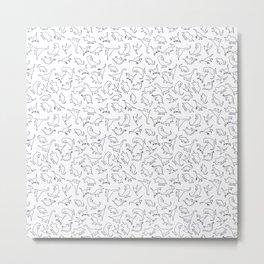 Dinosaurs Outline Pattern Metal Print