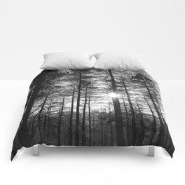 Winter Pine Forest 1 Comforters