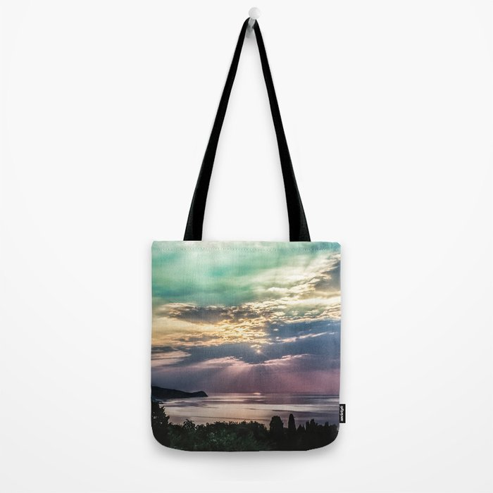 Cloudy sunrise Tote Bag