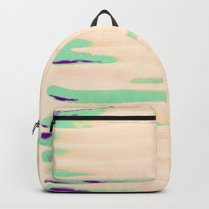 Green Greenery Stripes Backpack