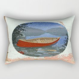 red canoe Rectangular Pillow