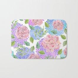 floral pattern vb Bath Mat