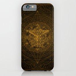 Dark Matter - Gold - By Aeonic Art iPhone Case