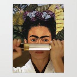 Kill Bill's O-Ren Ishii & Frida Kahlo's Self Portrait Poster