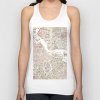 amsterdam Tank Tops featuring Amsterdam by Mapsland