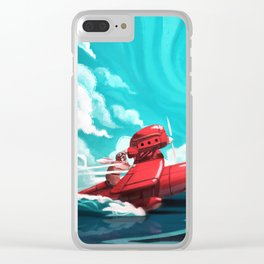 Porco Rosso Clear iPhone Case