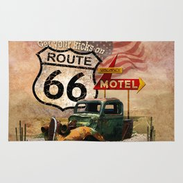 Get your Kicks on Route 66 Rug