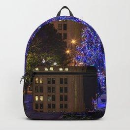 Photos Chicago city USA Christmas Christmas tree E Backpack