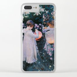 Carnation, Lily, Lily, Rose Clear iPhone Case