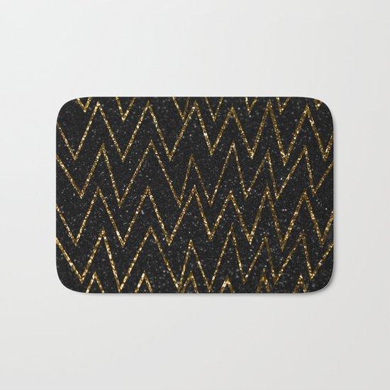 Elegant gold chevron #2 Bath Mat