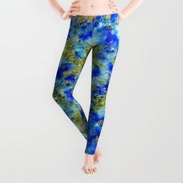 Lapis Lazuli Texture Leggings