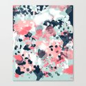 Jilly - modern abstract gender neutral canvas art print large scale abstract painting by charlottewinter
