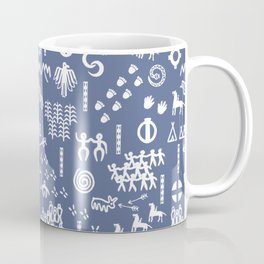 Peoples Story - White on Blue Coffee Mug