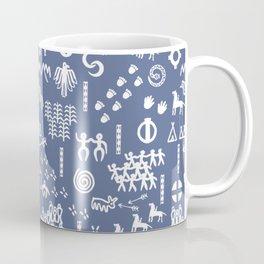 Peoples Story - White on Blue Coffee Mug