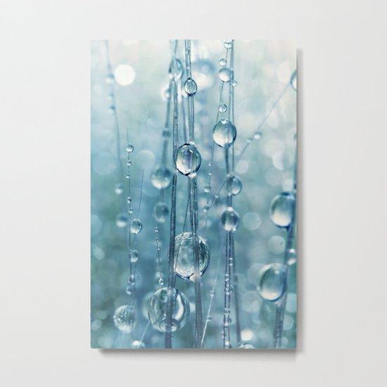 Blue Grass drops II Metal Print