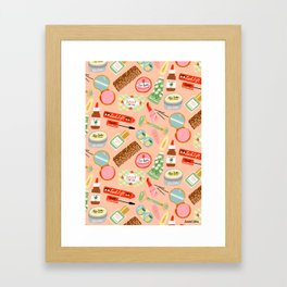 Toiletries Pattern Framed Art Print