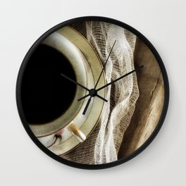 But First - Coffee! Wall Clock