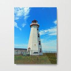 North Cape Lighthouse window wall Metal Print
