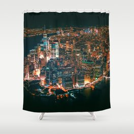 City of Lights New York City (Color) Shower Curtain